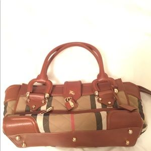 Burberry Quilted Manor Satchel